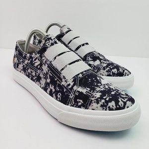 Blowfish Malibu Mandi Womens Size 11 Dark Tie Dye Slip On Canvas Casual Sneaker